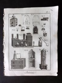 Diderot 1780's Antique Print. Chimie 05 Chemistry